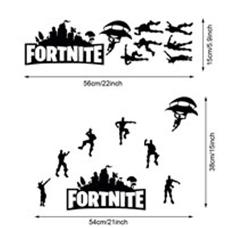 Fortnite Battle Royale Game Poster Wall Carved Wall Decal Sticker Home Art Mural  Wallpaper Decor Living Room Bedroom Art Decal Sticker Wall Decals For Boys  ...