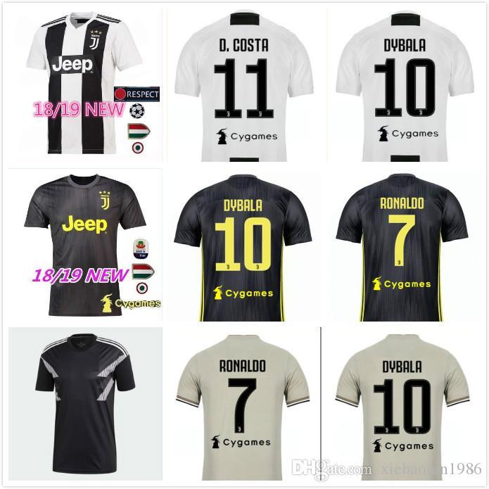 Acheter Nouveau 18 19 Maillot Ronaldo Juventus 2018 2019 Ligue Des