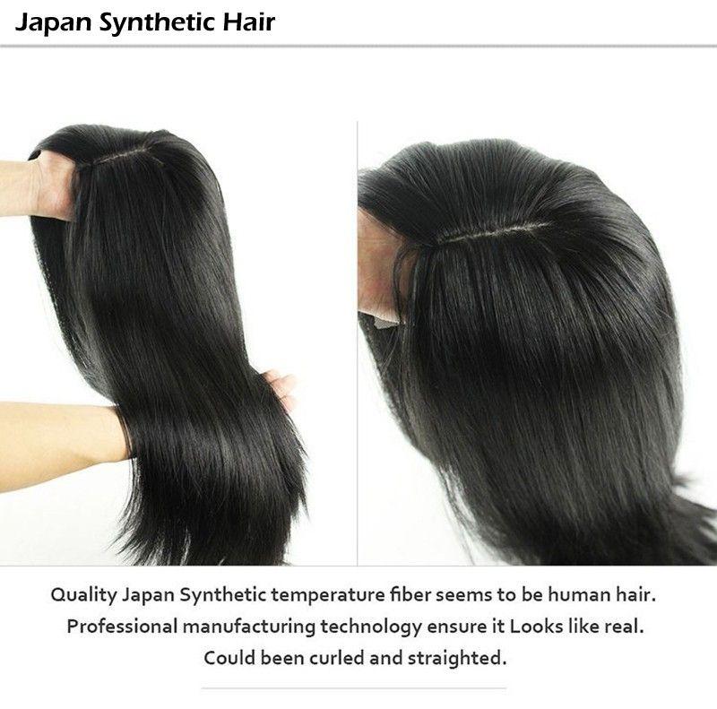 Pelucas sintéticas Cabello sintético para mujeres negras Pelucas delanteras de encaje sintético Peluca de cabello barata Natural Colorl con flequillo en stock