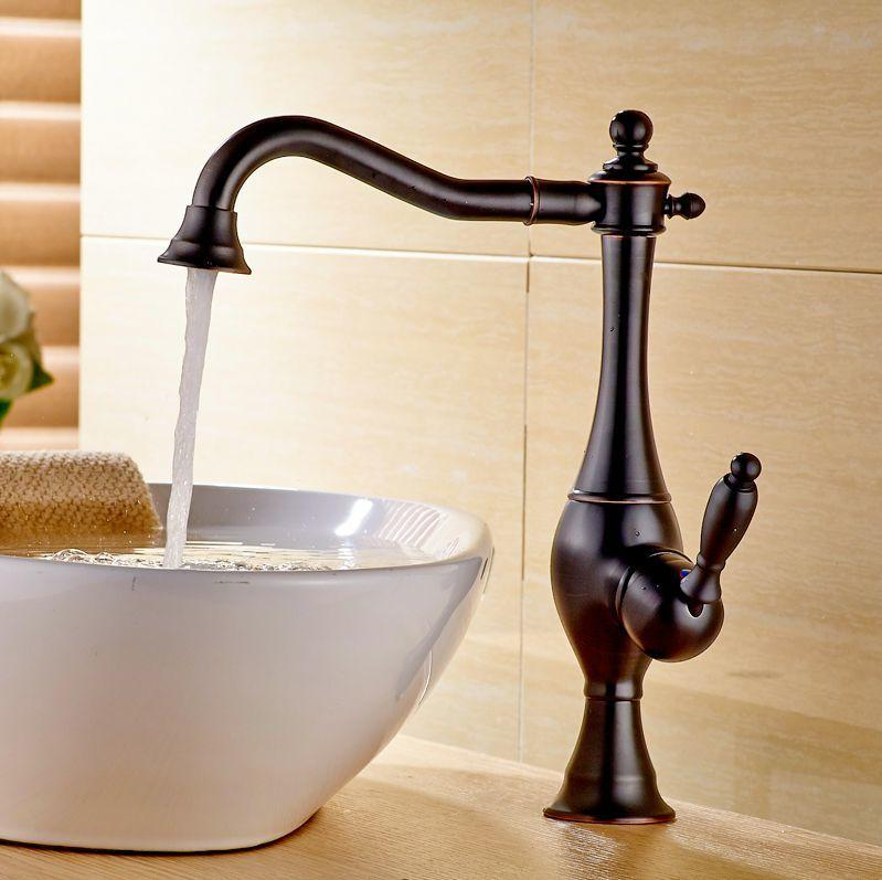 2018 Bathroom Vessel Sink Faucet Oil Rubbed Bronze Basin Tap ...