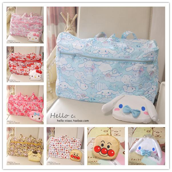 af44d1a6af Cartoon Women Hello Kitty My Melody Cinnamoroll Dog Pudding Dog Anpanman  Portable Foldable Luggage Bag Travel Bags Duffle Bags For Men Personalized  Bags ...