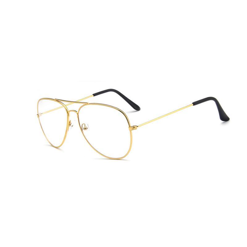 2018 Retro Women Glasses Frames Men Transparent Classic Aviation ...