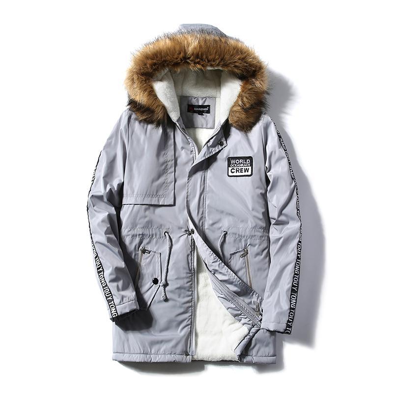Uzun Kış Ceket Erkekler Tutmak için Sıcak Ceket ve ceket erkek Casual Erkek kalın Aşağı Palto Ceketler parka homme