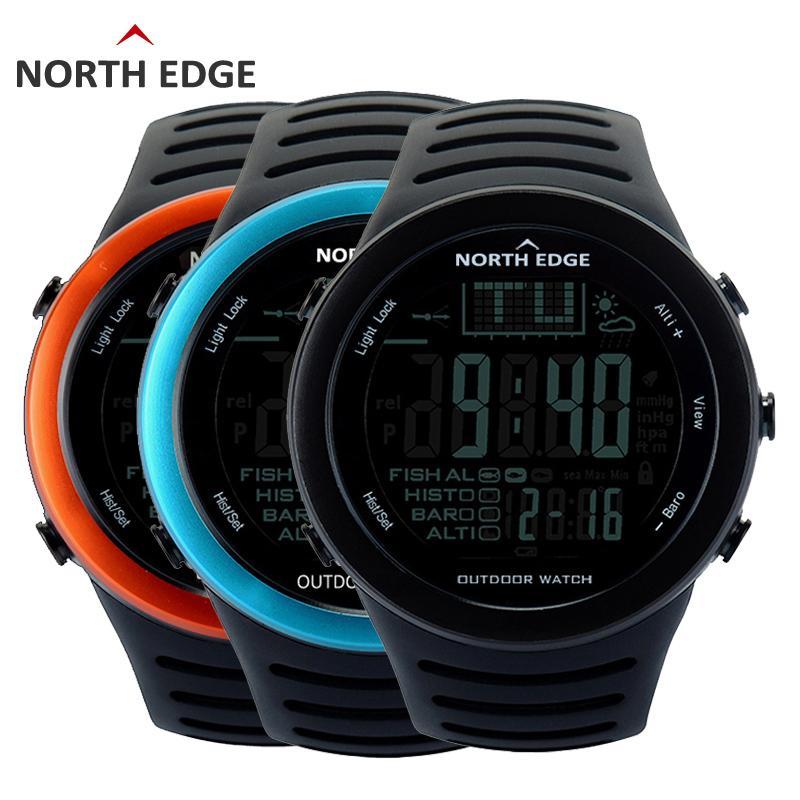 8968bb77d2c BORDA NORTE Pesca Altímetro Barômetro Termômetro Altitude Homens Relógios  Digitais Esportes Escalada Caminhadas Relógio Montre Homme De Hiramee