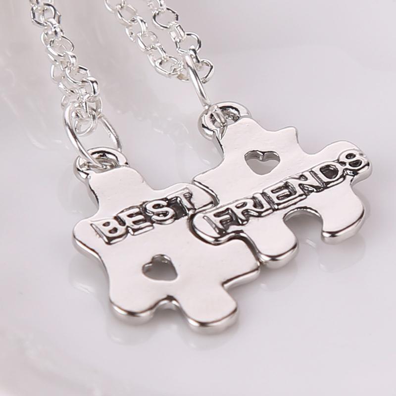 2018 Best Friends Forever Necklaces For 2 Puzzle Pendant Couple