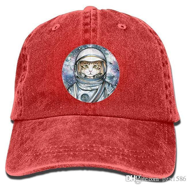 Astronaut Cat Baseball Caps Novelty Top Level Snapback Hat For Teen Girls  Starter Cap Big Hats From Pzx1586 16ee44352ae