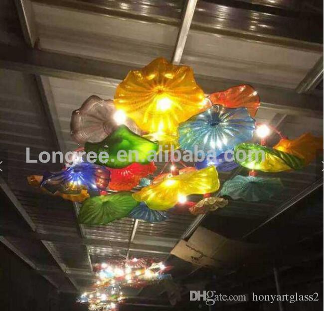 Modern Art Glass Wall Plates Style Handmade Murano Glass Wall Ceiling Plates Hotel Living/dinning Room Wall Decor
