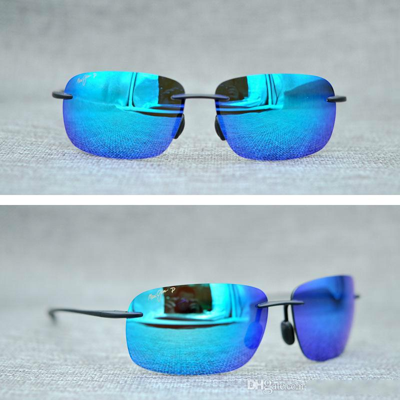6e52d2f6494 Brand Designer 2017 Maui Jim Sunglasses 422 Breakwall Sunglasses Rimless  Lens MJ Men Women TR Sunglasses Driving Aviator With Case Sports Sunglasses  Cheap ...