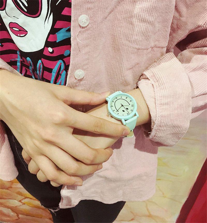 Güney Kore moda trendi güzel çocuk izle kız erkek kız elektronik kuvars İzle su cilt karşı T0224