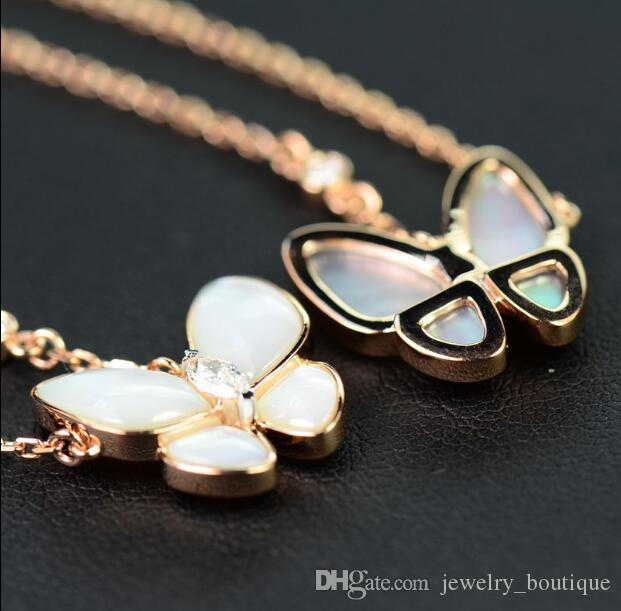 Costume Jewelry Gold Necklace Popular Butterfly Italian Diamonds