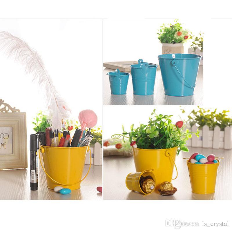 Colore Mini Metallo Colorato Secchio Candy Keg Secchi DIY Wedding Party Favore Decorazione Regalo Wrap DEC346