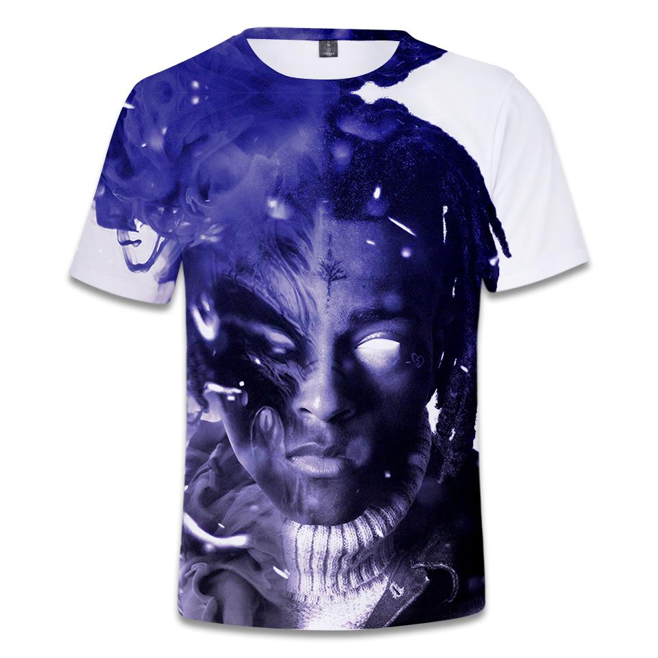 Courtes Hommes Xxxtentacion Shirt Mode Hip Hop Manches Top 3d Casual Print À Aikooki T Femmes Hot CExWerBoQd