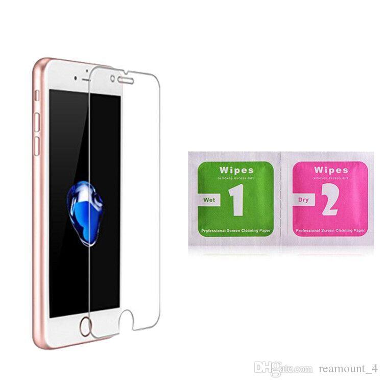 Für iPhone 8 8 Plus Bildschirm Klar Schutzfolie für iPhone 6 6 Plus 0,3 MM 2.5D Gehärtetem Glas mit Alkohol-paket