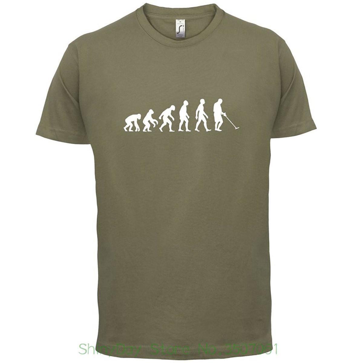 502c7de4477ee New Design Cotton Male Tee Shirt Designing Men S Evolution Of Man Metal  Detector T Shirt 10 Colours Buy Tee Shirts Great Tee Shirts From Lijian82