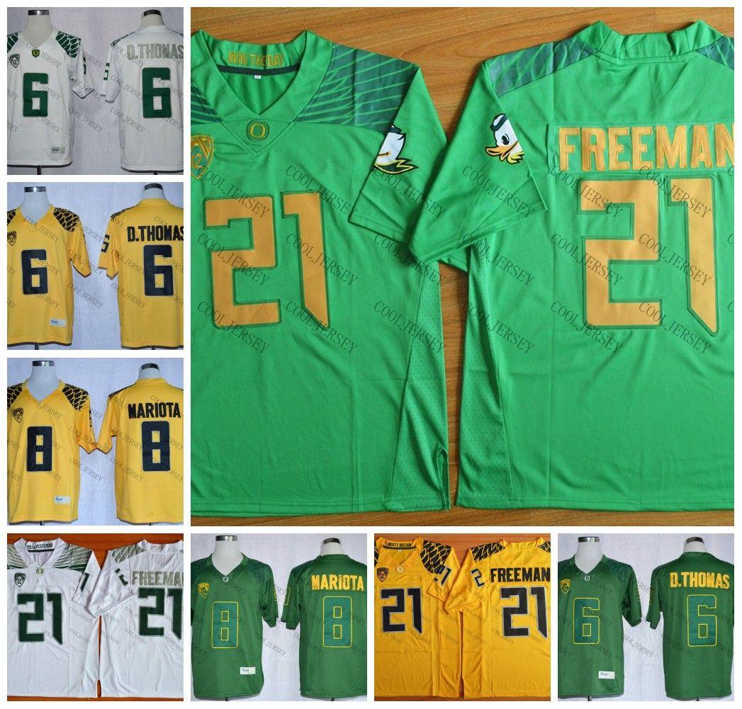 the best attitude a4b16 e62fe NCAA Oregon Ducks #21 Royce Freeman 13 Dillon Mitchell 10 Justin Herbert 11  Braxton Burmeister College Football White Green Yellow Jersey
