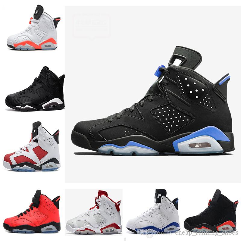 2018 6 6s Men Basketball Shoes White Infrared Black Cat University Sports  Blue Hare Carmine Olympic Oreo Angry Bull Olympic Maroon Sneakers  Basketball Shoes ...