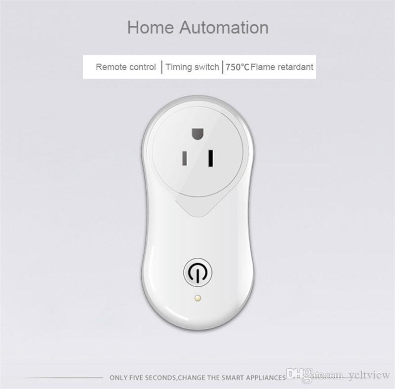 Smart Wifi Plug Mini Socket Outlet Adapter Compatible con Alexa Echo Better Sonoff US EU UK Plug para Home Phone Electrical APP Remote