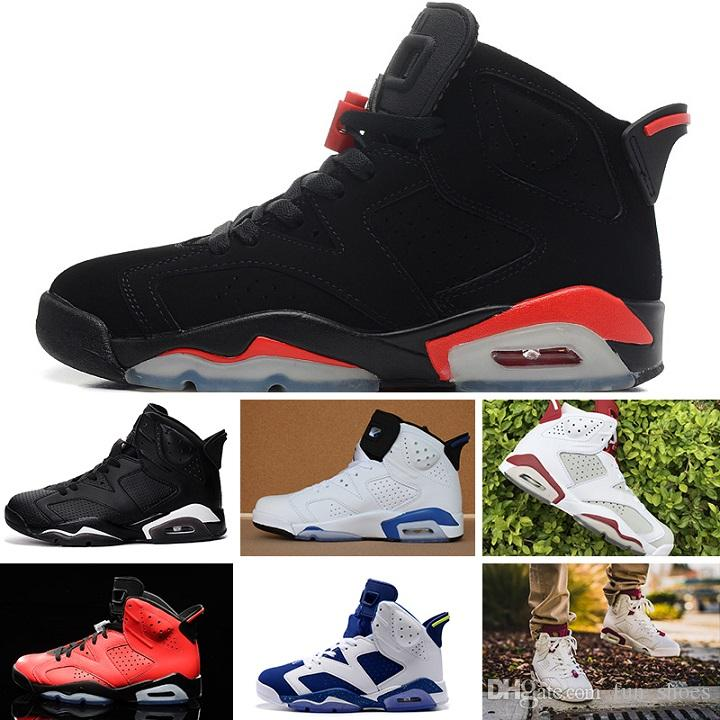 new concept 90789 50a25 Großhandel Nike Air Jordan 6 Retro Sneakers Designer Herren 6 Basketball  Schuhe Tinker Turnschuhe Sneaker Unc Blau Schwarz Katze Weiß Infrarot Rot  Carmine ...