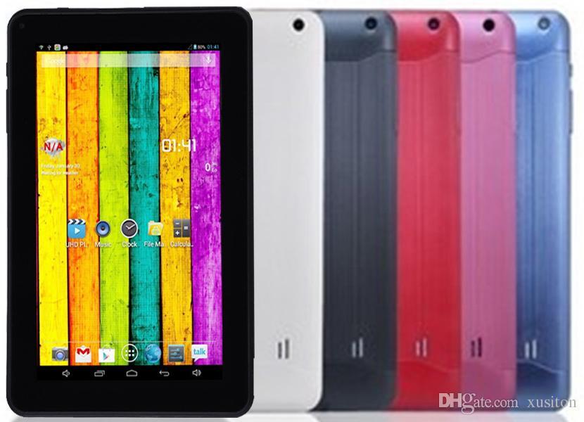 A33 9inch Tablet PC Capacitance Quad Core Android 4.4 Dual Camera 8GB RAM 512MB ROM WIFI Bluetooth 3G EPAD Facebook Google XCTA33-PB