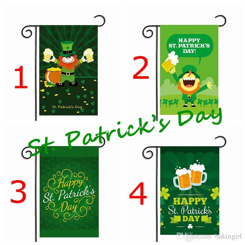 Compre Feliz Día De San Patricio Nuevo 30 45 Cm Bandera De Ee Uu Clover Garden Flag Diy Patio Bandera Colgante Casa Decoración Portátil Banner A