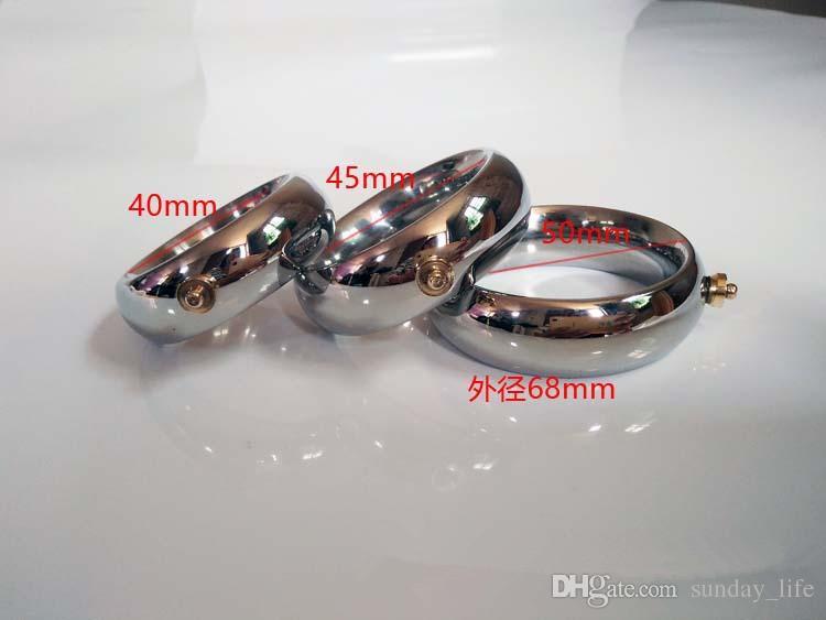 Livraison gratuite mâle anneau de choc électrique, anneaux de pénis en métal Scrotum civière Électro Stimulation Accessory Pour DIY Électro Choc Sex Toys