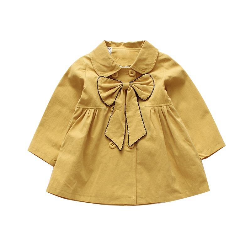 2dc7b2c83 Autumn Baby Girls Outerwe Coat Kids Long Sleeve Bowknot Design Cute ...