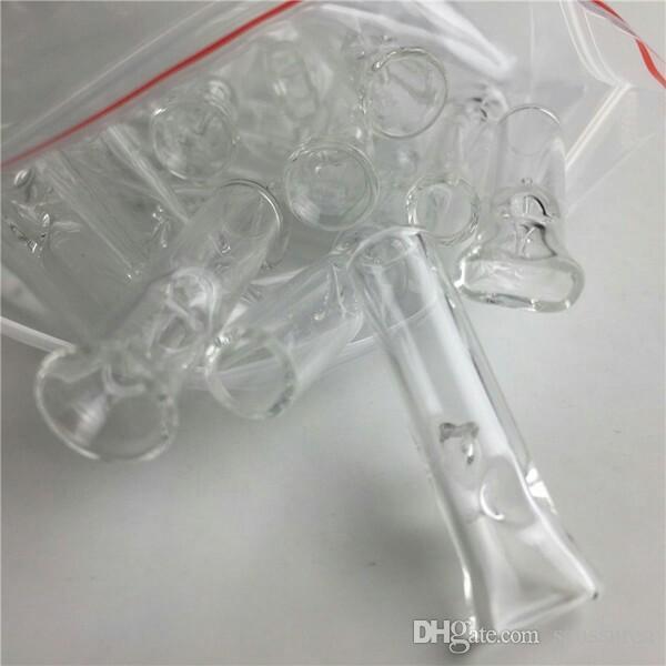 Mini-Glas-Filter-Tipps für trockene Herb Tobacco RAW Blättchen mit Tabak-Zigarettenspitze Dick Pyrexglas Smoking Pipes