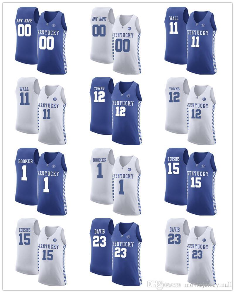 NCAA Mens Kentucky Wildcats John Wall 11 Booker 1 Anthony Davis 23 ... 75ddfd049