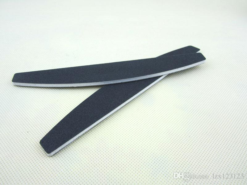 100/180 grit nagelfil / nagelverktyg svart sandpapper Plast 80/80 Emery Board