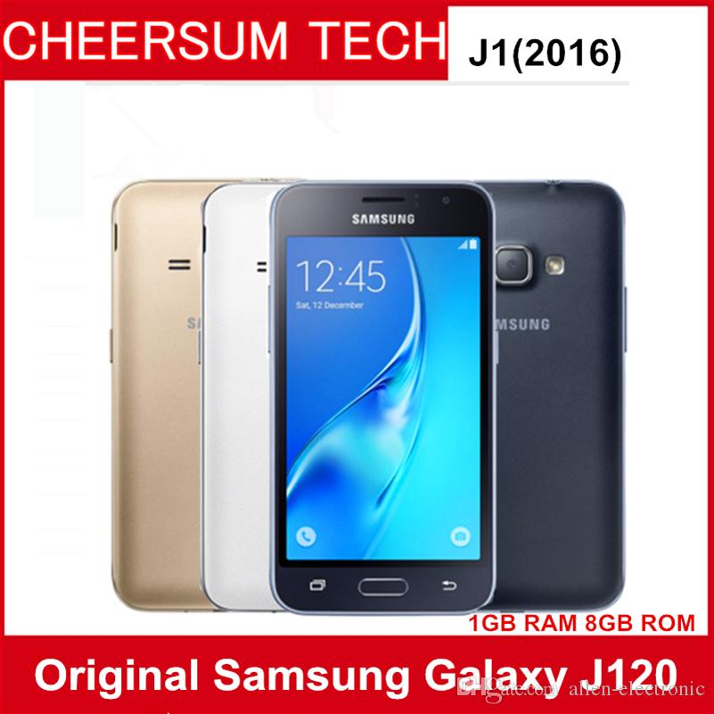 unlocked Samsung Galaxy J1 (2016) SM-J120 Smartphone 8GB ROM 1GB RAM LTE android Mobile cell phones original 5MP 4g SM-J120