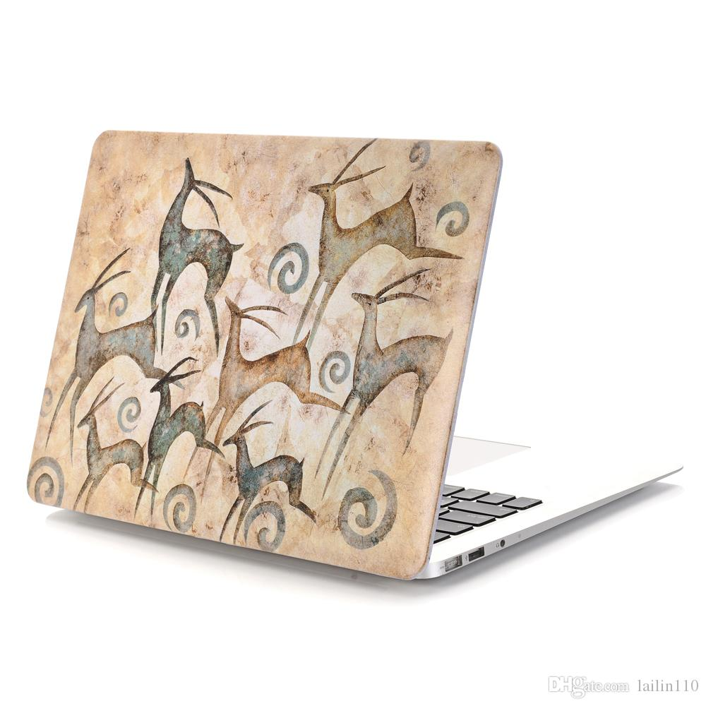 Mural-5 Oil painting Case for Apple Macbook Air 11 13 Pro Retina 12 13 15 inch Touch Bar 13 15 Laptop Cover Shell