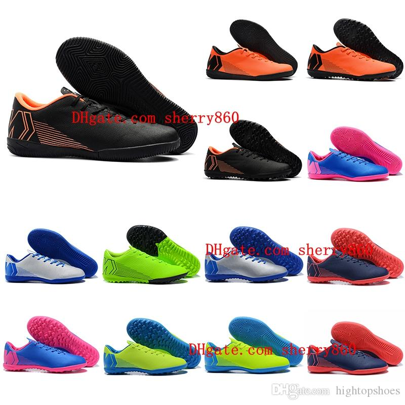 786f70403b4 2019 2018 Cheap Mens Turf Soccer Cleats Indoor Soccer Shoes Low Top VAPORX  12CLUB IN TF Football Boots New Arrival Size 39 46 From Hightopshoes