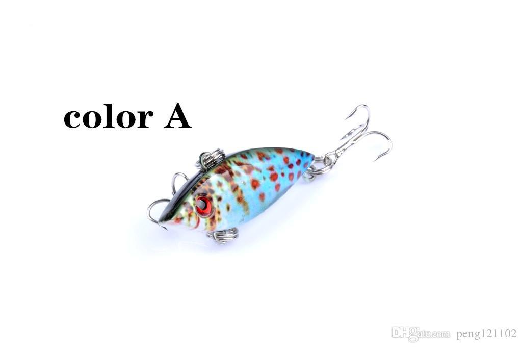 8-Color VIB Shallow Diving Crankbaits 4cm/ 2.7g Dying Rattle Sound Wobbler Artificial Hard Crank Bait bass fishing lure
