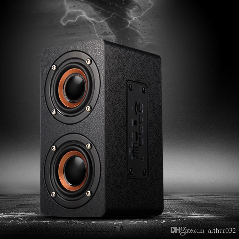 En bois haut-parleurs portatifs Bluetooth haut-parleur pour voiture tendance téléphone portable Bluetooth HIFI haut-parleur Bluetooth Accueil haute puissance multimédia musique