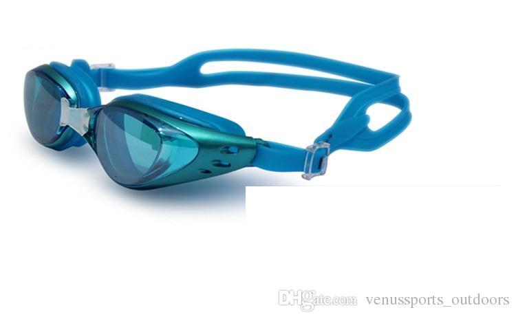 плавание водонепроницаемый очки покрытие зеркальные Спорт вода спортивная одежда анти туман анти УФ водонепроницаемый плавательный очки Очки