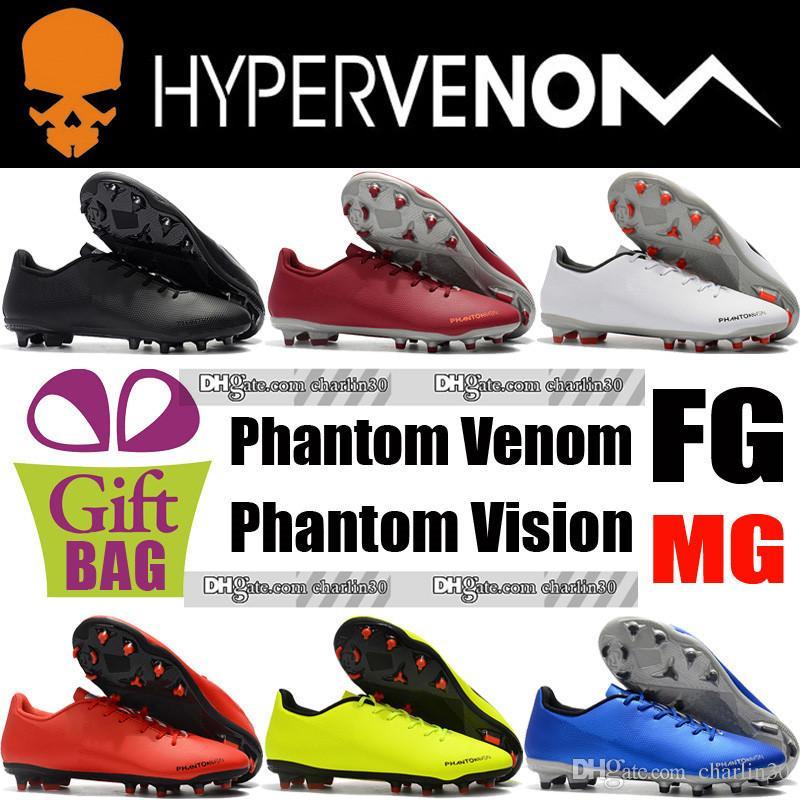 4d9f3909f Compre Nueva Original Phantom Venom MG Zapatos De Fútbol Al Aire Libre Para  Hombre Phantom Vision FG Botas De Fútbol De Cuero Hypervenom FG Soccer  Cleats ...