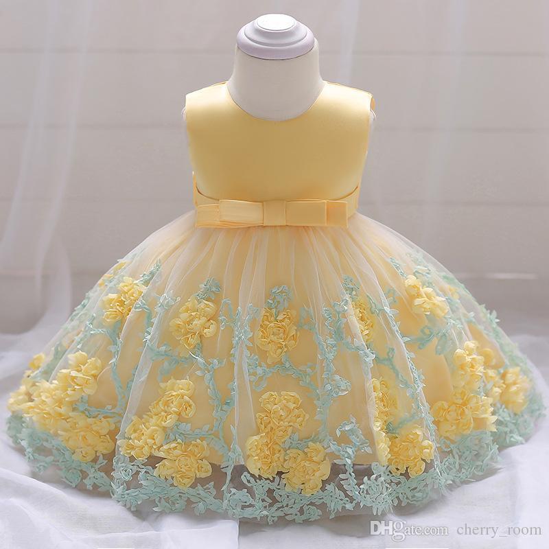 96c98be28 2019 Infant Toddler Baby Girl Dress Girls Birthday Dresses Children ...