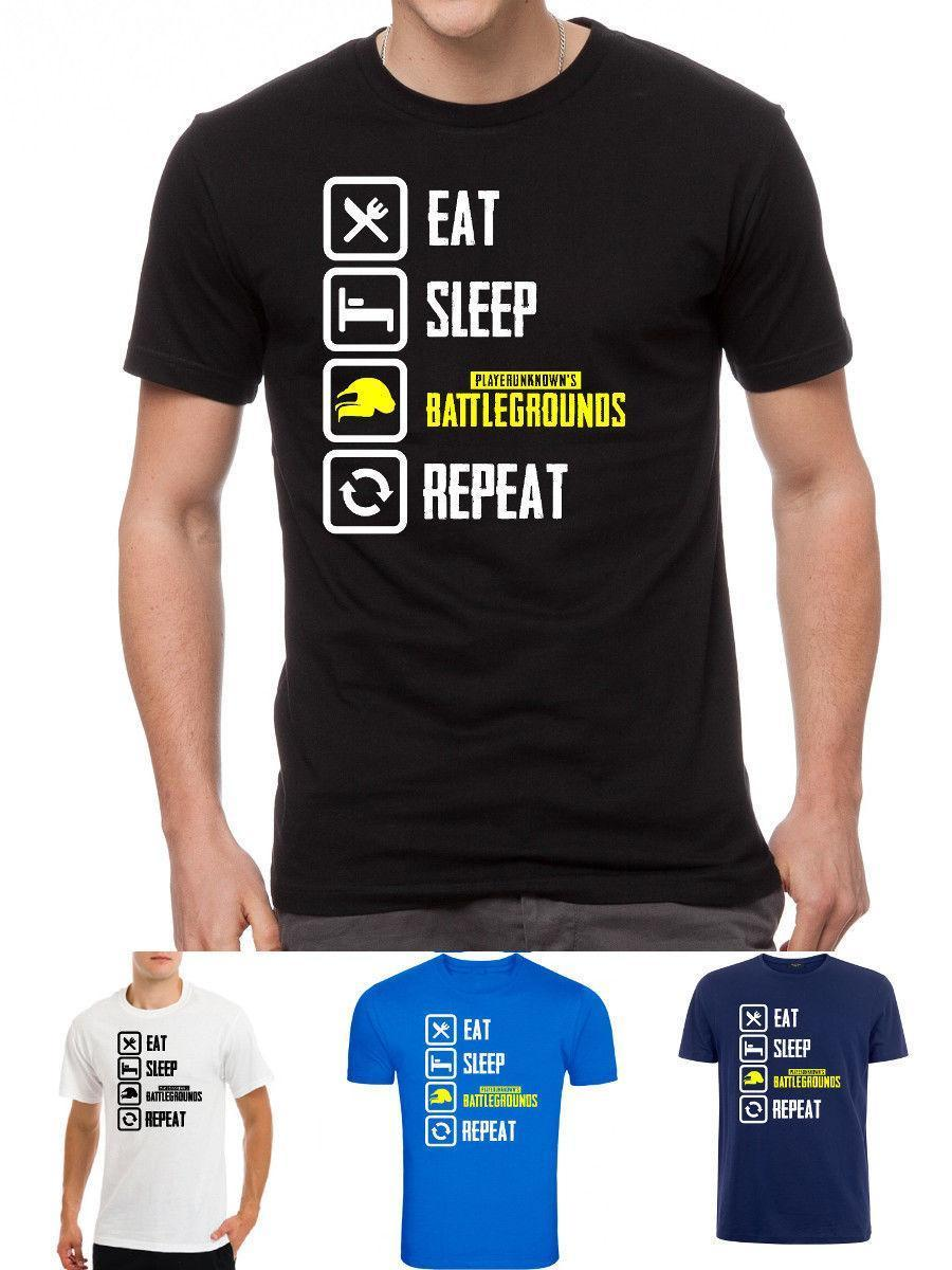 adc2ac4ad860a Players Unknown Battlegrounds Pubg Eat Sleep Repeat Gamer Playersunknown T  Shirt Unisex Funny Gift Casual Tee Trendy T Shirts For Men Shirts Funny  From ...