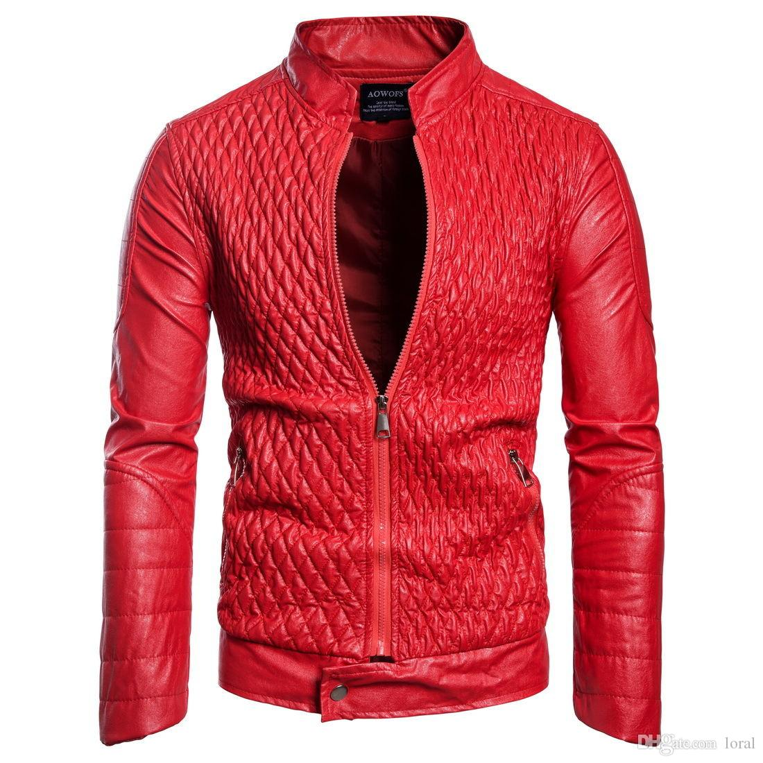 96387a558c9 2019 Mens Designer PU Leather Jacket Male Casual Faux Leather Jacket Autumn  Winter Thin Coat From Loral