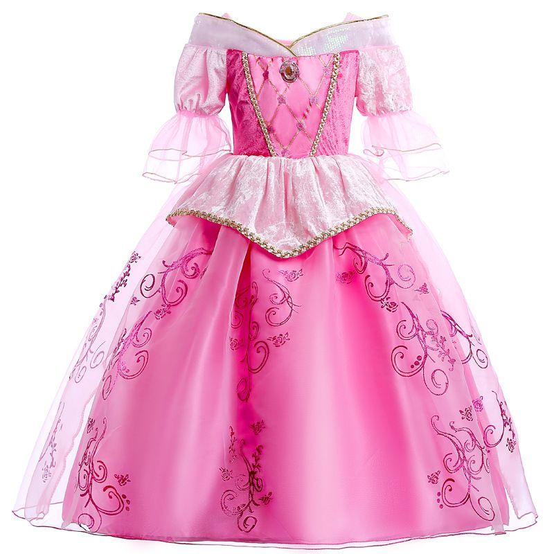 2343a8c8d72 Girls Princess Aurora Dress Up Costume Cosplay Sleeping Beauty Party Gauze  Dress Up Children Halloween Christmas Clothing HH7-192