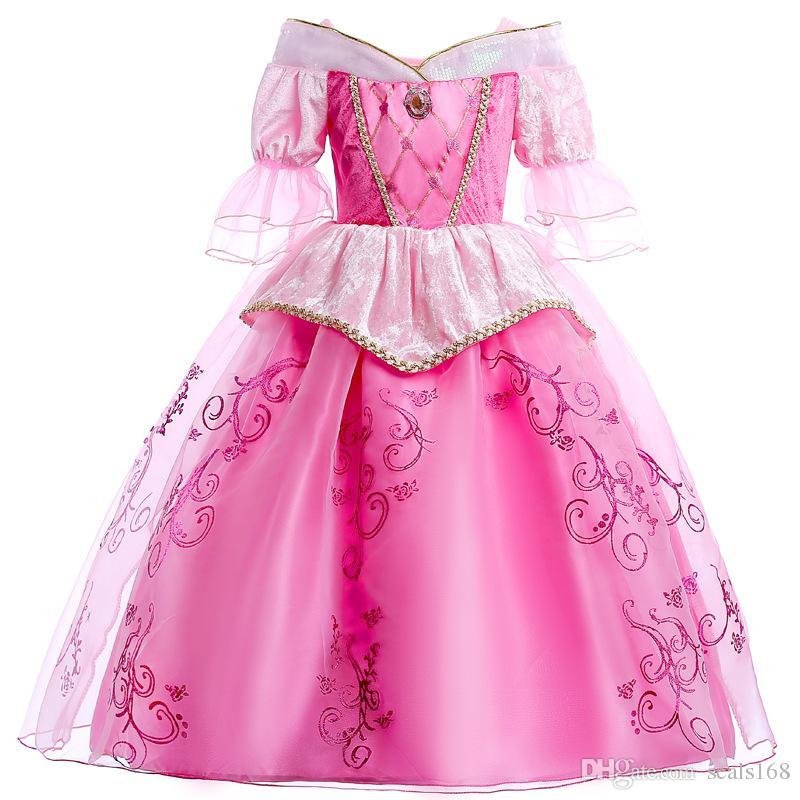 Acquista Ragazze Principessa Aurora Dress Up Costume Cosplay Sleeping  Beauty Party Garza Dress Up Bambini Halloween Natale Abbigliamento HH7 192 A   10.06 ... d7ef8bb3321
