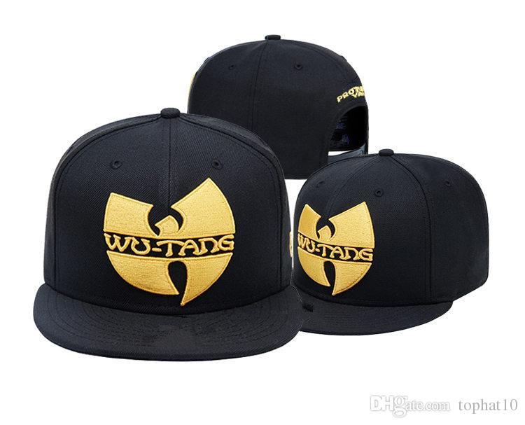 Ucuz Yeni Moda Wu Tang Erkek Kadın Bayrak Snapback Şapka Kap Siyah Beyzbol Snapbacks Klan Sokak Hip Hop Rap Kap Kadın Yaz kemik