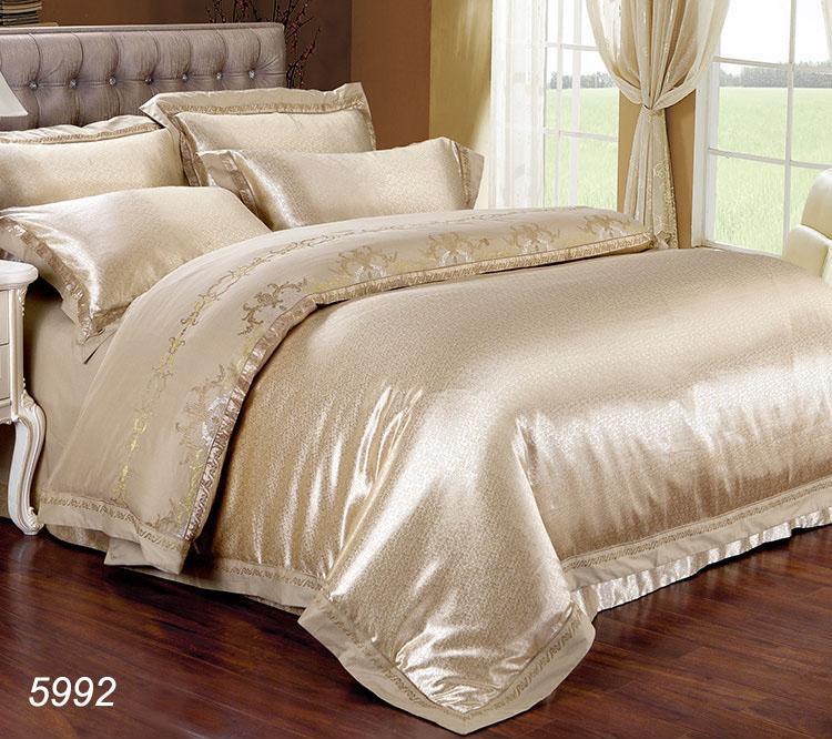 Luxury Silk Bedding Set King Size Queen Size Satin Silk Bed Set ...