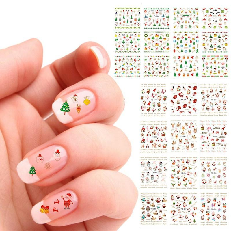 3d Nail Art Stickers Snowflakes Cute Snowman Nail Decal Manicure