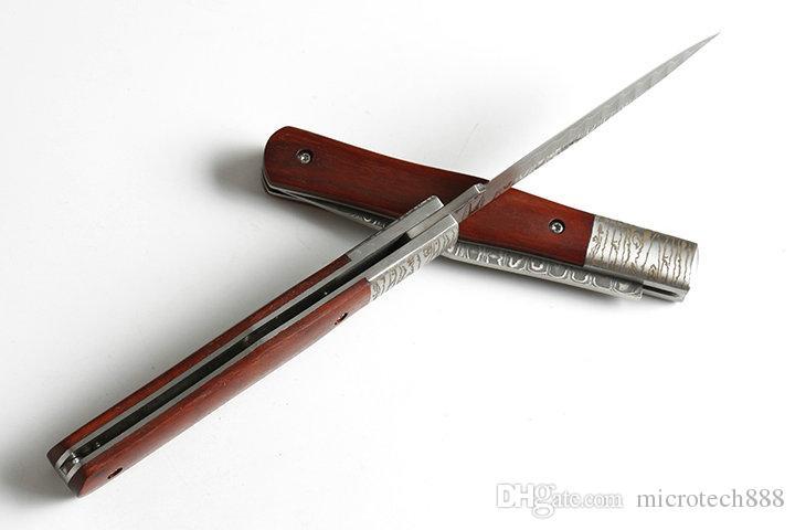 Heißer Schmetterling Damaskus Stift VG10 Damaskus Muster VG10 Damaskus Stahl Camping Jagd wildes Geschenk Messer Freies Verschiffen 1 Stücke