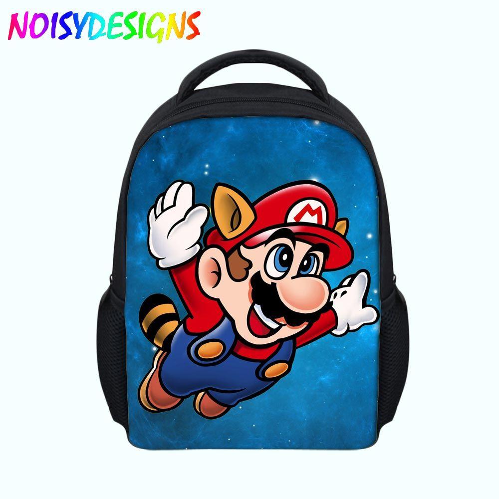 Personalised SUPER MARIO school bag kids childrens backpack rucksack nursery NEW