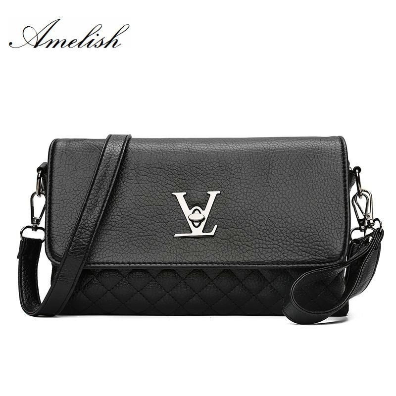 d392d54e4f51 Famous Brand Designer Clutch Bag New Business Black Solid PU Leather ...