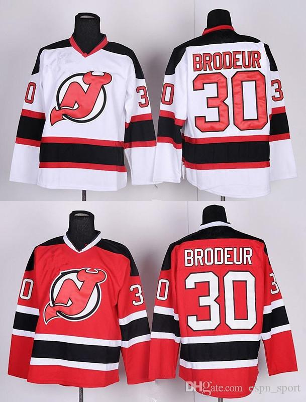 separation shoes c6fa6 18dcb Factory Outlet, Martin Brodeur Jersey Cheap New Jersey Devils Hockey  Jerseys #30 Martin Brodeur Home Red NY Devils Road White Stitched Jerse