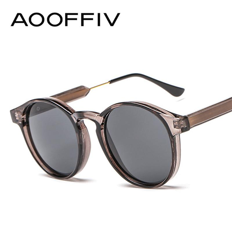 1462f08a57 AOOFFIV 2018 Vintage Round Sunglasses Women Men Classic Outdoor ...