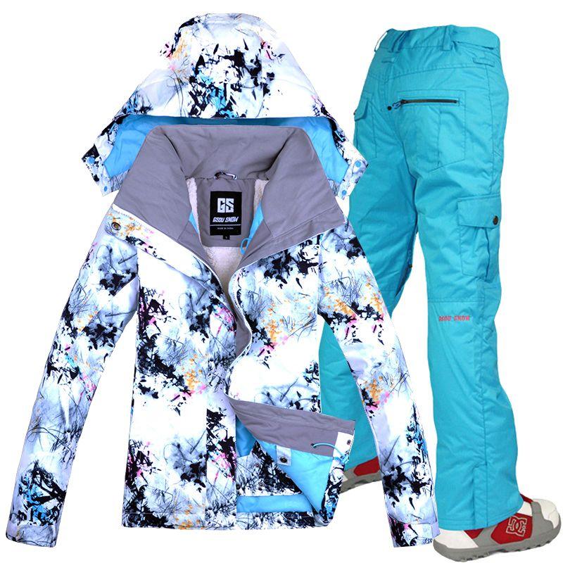 0f4d36a982 Women s Double Single Board GSOU SNOW Ski Suit Outdoor Thick Warm Sport  Breathable Waterproof Ski Jacket Pants Skiing Jackets Cheap Skiing Jackets  Women s ...